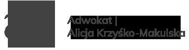 Adwokat Szczecin Alicja Krzyśko-Makulska
